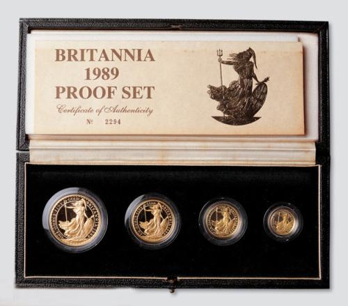 1989年英国10镑至100镑皇家千年纪念金币一套四枚