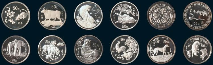 第一轮十二生肖银币5盎司共十二枚全