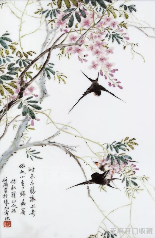 [美元图片]毕伯涛瓷画有哪些特点,鉴别时应当注意什么