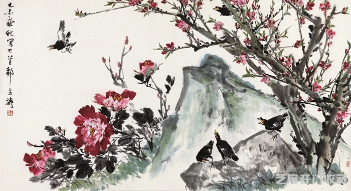「湘绣图片」王雪涛小写意花鸟有何卓绝 竟引藏家高价追捧