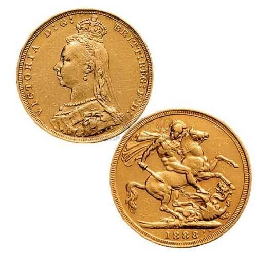 1888年英国乔治屠龙金币