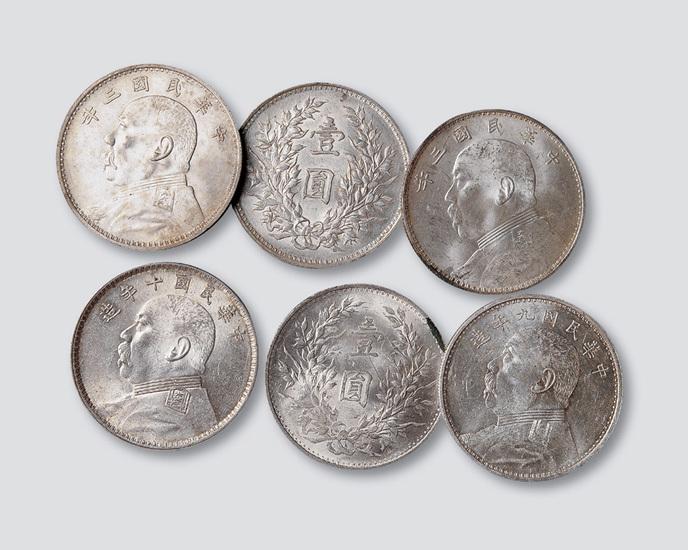 袁世凯像银币一组六枚
