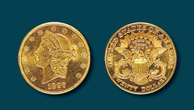 1897年美国金币一枚