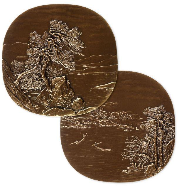 化境大铜章,原盒装、附证书NO.H103。尺寸75mm*75mm,发行量300枚。