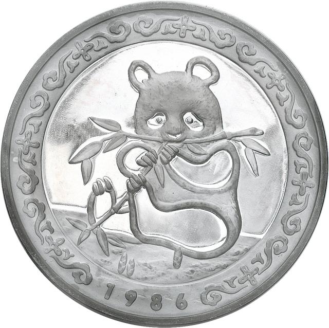 1986年香港银币展12盎司银章一枚