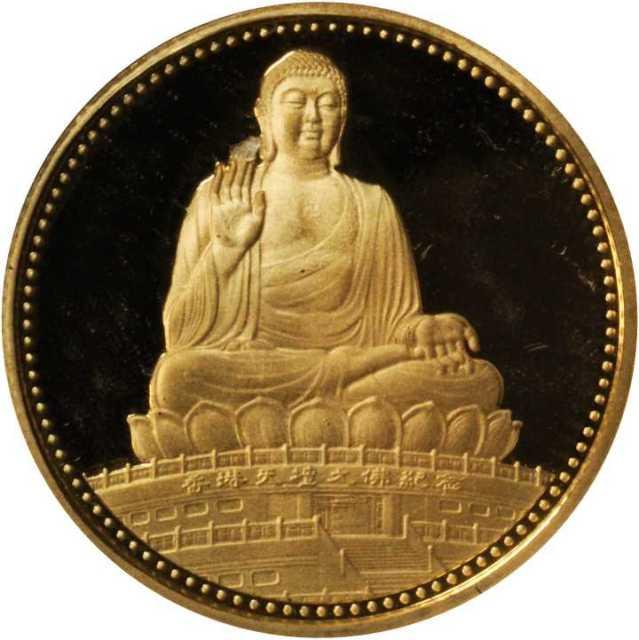 1990年天坛大佛纪念金章1/4盎司 近未流通