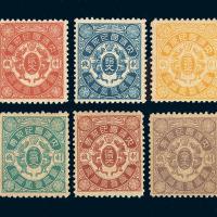 ★1903年日本版双龙戏珠印花税票六枚全