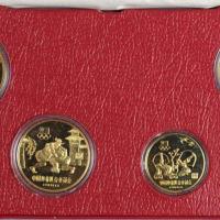 1980年中国奥林匹克委员会铜质纪念币全套四枚