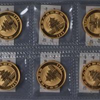 1993年熊猫1/4盎司金币十枚