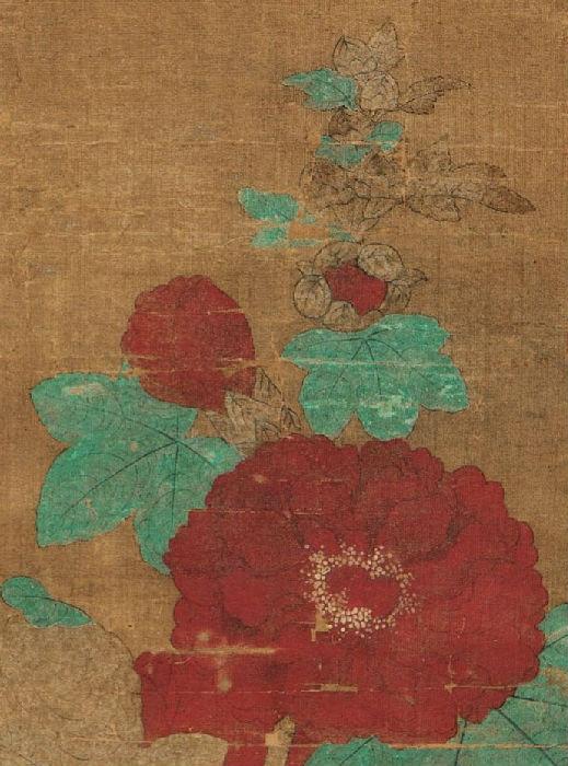 元 钱选《折枝花卉》