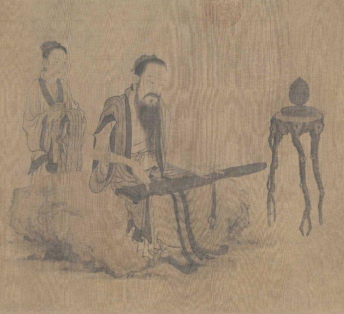 元 王振朋《伯牙鼓琴图》
