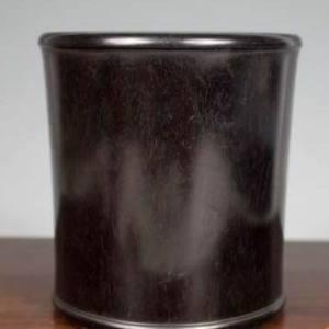金星紫檀木起线素面纹笔筒交易价格