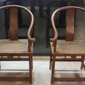 清海南黄花梨圈椅交易价格