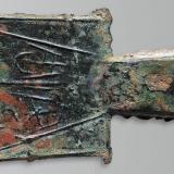 战国时期平肩空首布安周古钱币