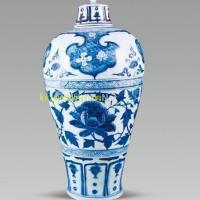 元青花缠枝牡丹纹梅瓶