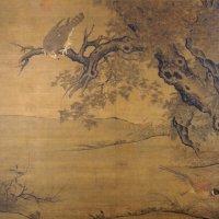 宋李迪《枫鹰雉鸡图》