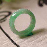 冰种飘阳绿老翡翠戒指