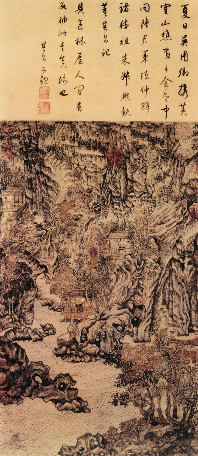 元 王蒙《具区林屋图》