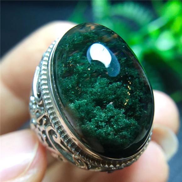 绿幽灵聚宝盆戒指