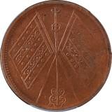 1912年新疆通宝双旗红钱十文铜币