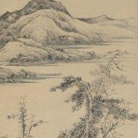 明王绂《松林亭子图》