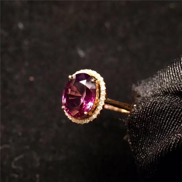 18K金尖晶石戒指