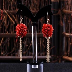红珊瑚耳环交易价格