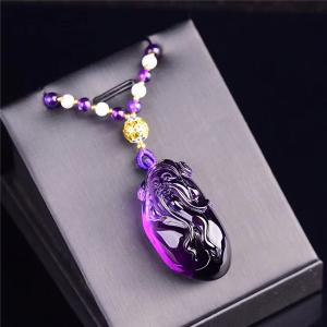 天然巴西紫水晶财神吊坠交易价格