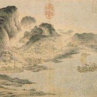 宋 佚名《江帆山市图》