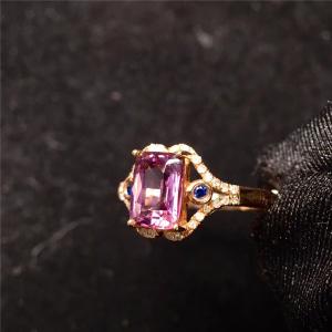 18K金尖晶石戒指交易价格