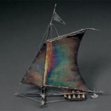 三四十年代伪满洲国银质风帆摆饰