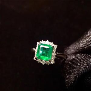 18K金祖母绿戒指交易价格
