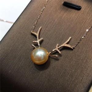 缅甸海水珍珠锁骨链交易价格