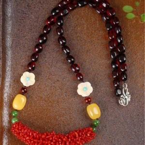 天然超长版意大利红珊瑚毛毛虫项链交易价格