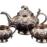 南亚风格银制茶具