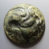西汉白金三品铜质龙币