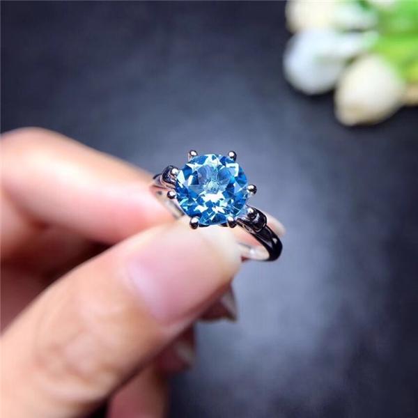 天然托帕石戒指