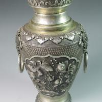 清银质金鱼纹赏瓶