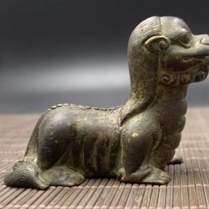 清中期 铜瑞兽纸镇交易价格
