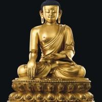 明永乐鎏金铜释迦牟尼佛坐像