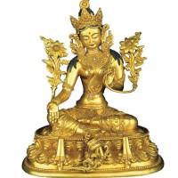 大明成化文殊菩萨铜鎏金坐像