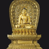 明永乐鎏金铜释迦牟尼坐像