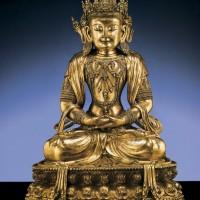 明宣德御制鎏金铜无量寿佛坐像