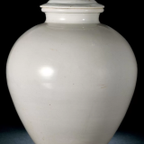 唐邢窑白瓷盖罐