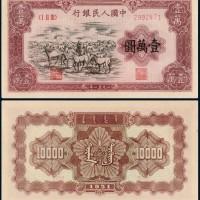 1951年第一套人民币壹万圆牧马