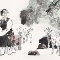 于云涛(b.1950) 张鸿飞(b.1950) 孔维克(b.1956)2012年作《吉祥春月》