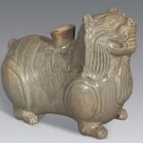 晋越窑青瓷狮形器