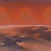 刘国松1969年至1970年作《子夜太阳》