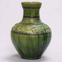 汉绿釉陶壶