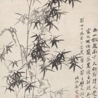 郑板桥1756年作 《竹石兰蕙图》
